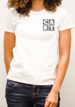 Women's short sleeve t-shirt - grey chest CART logo
