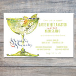 summer cocktail party invitation with margarita and lime