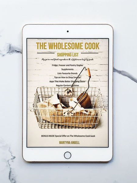 The Wholesome Cook Shopping List eBook Martyna Angell