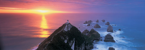 Sunset, Nugget Point Lighthouse, South Island, New Zealand
