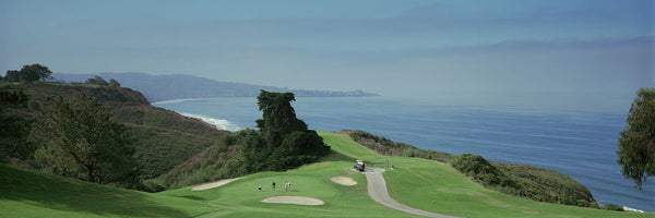 Golf course at the coast, Torrey Pines Golf Course, San Diego, California, USA