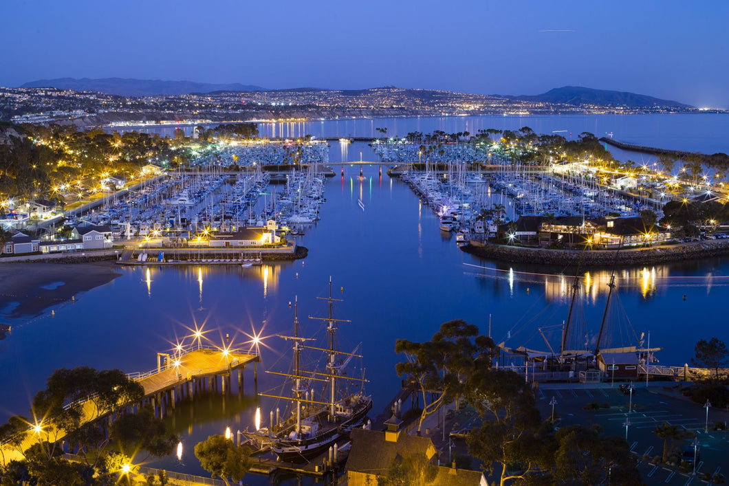 Elevated view of a harbor, Dana Point Harbor, Dana Point, Orange County, California, USA