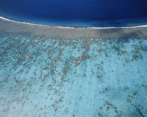 Aerial view of island, French Polynesia