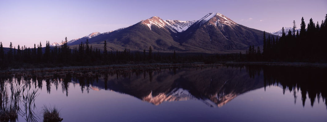 Reflection of mountains in water, Banff, Alberta, Canada