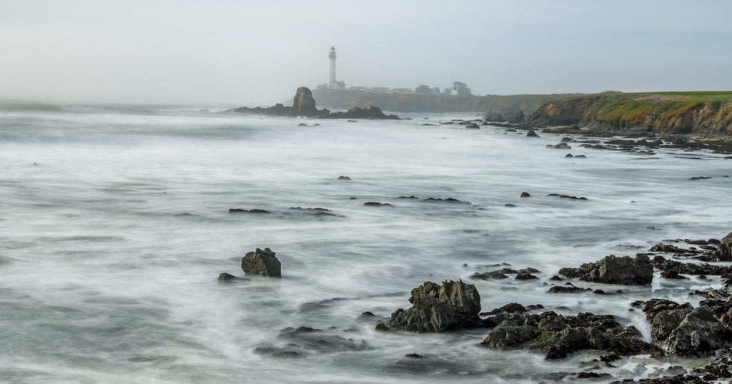 Lighthouse on the coast, Pigeon Point Light Station, Cabrillo Highway, California, USA