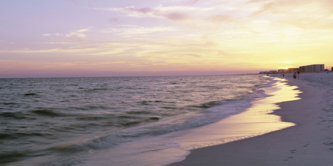 Sunset over the ocean, Gulf Of Mexico, Pensacola, Florida, USA