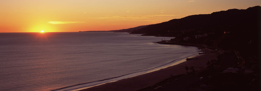 Beach at sunset, Malibu Beach, Malibu, Los Angeles County, California, USA