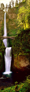 Footbridge in front of a waterfall, Multnomah Falls, Columbia River Gorge, Multnomah County, Oregon, USA