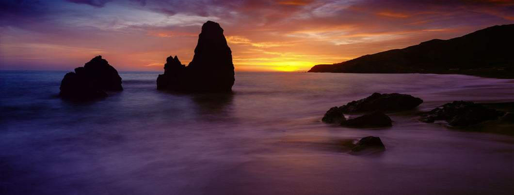 Rodeo Beach at sunset, Golden Gate National Recreation Area, California, USA