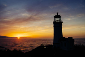 Lighthouse on the coast, Cape Disappointment, Washington State, USA
