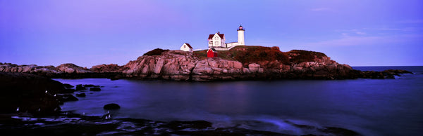 Lighthouse at a coast, Nubble Lighthouse, Cape Neddick, York, York County, Maine, USA