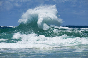 Waves in the ocean, Coral Sea, Surfers Paradise, Queensland, Australia