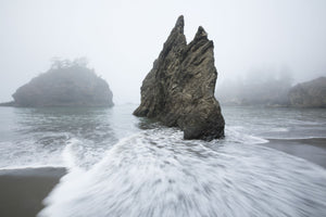 Rock formations on the coast, Cannon Beach, , Pacific Northwest, Oregon, USA