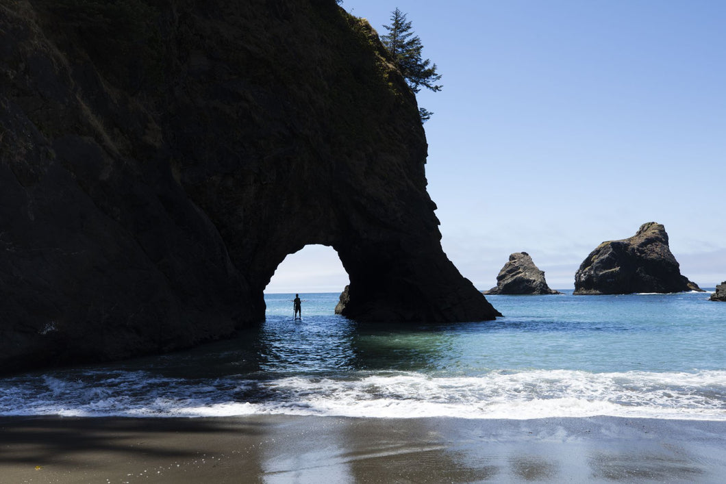 Cove in the Pacific Ocean,Secret Beach, Boardman State Scenic Corridor, Pacific Northwest, Oregon, USA