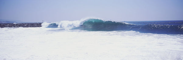 Waves at the wedge, Newport Beach, Orange County, California, USA