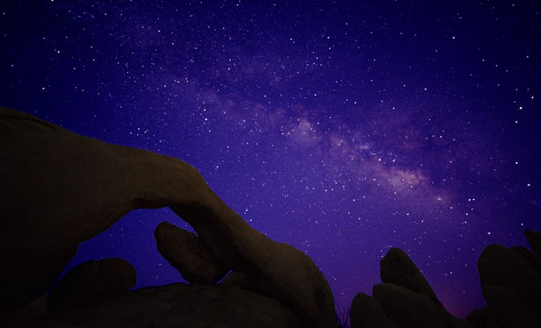 Scenic view of rock formations, Joshua Tree National Park, California, USA