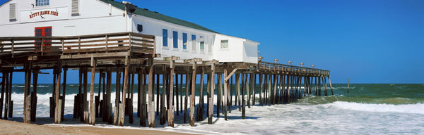Kitty Hawk Pier on the beach, Kitty Hawk, Dare County, Outer Banks, North Carolina, USA