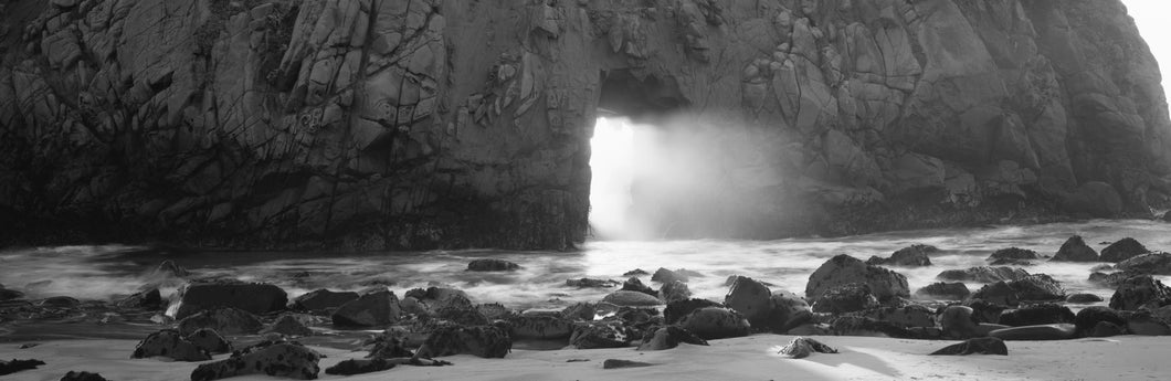 Rock formation on the beach, Pfeiffer Beach, Big Sur, California, USA
