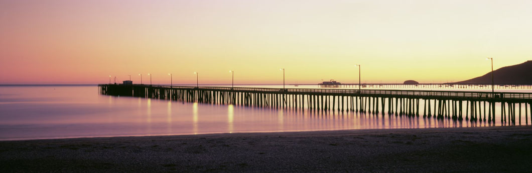 Pier at sunset, Avila Beach Pier, San Luis Obispo County, California, USA