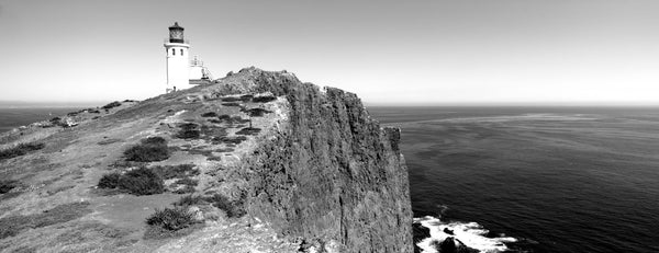 Lighthouse at a coast, Anacapa Island Lighthouse, Anacapa Island, California, USA