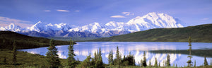 Snow Covered Mountains, Mountain Range, Wonder Lake, Denali National Park, Alaska, USA
