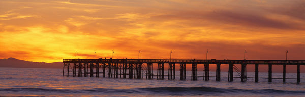 Ventura Pier and Pacific at sunset, Ventura, California