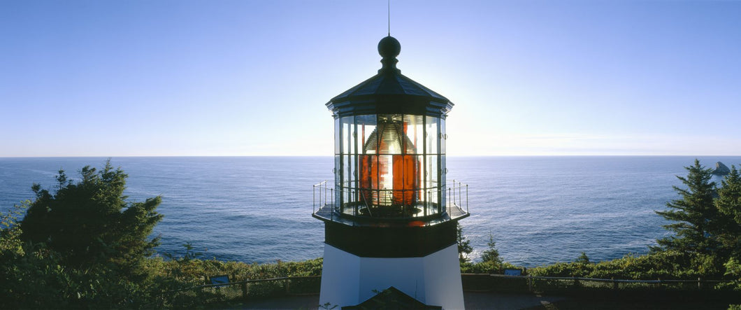 Sunset at Cape Meares Lighthouse from 1890, Oregon