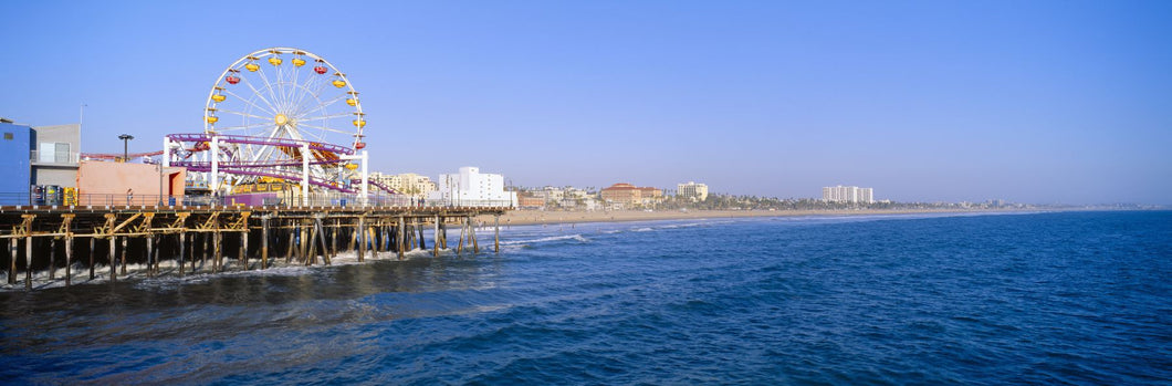 Santa Monica Pier with Ferris wheel, Santa Monica, California