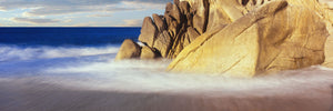 Waves crashing on boulders, Lands End, Cabo San Lucas, Baja California Sur, Mexico