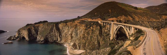Bridge on a hill, Bixby Bridge, Big Sur, California, USA