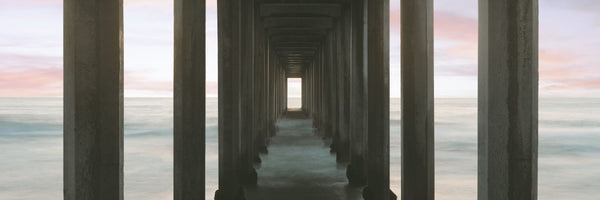 Scripps Pier into the Pacific Ocean, La Jolla, San Diego, San Diego County, California, USA