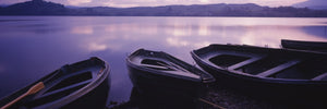 Fishing boats moored in a lake, Loch Awe, Strathclyde Region, Highlands Region, Scotland