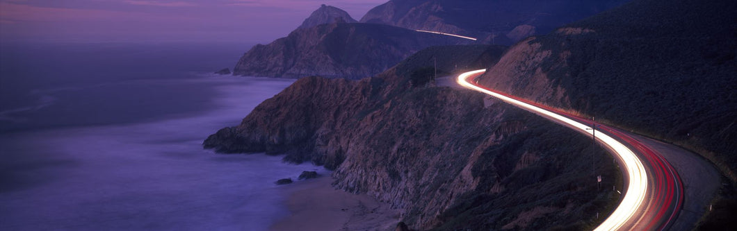 Dusk Coast Highway 1 N CA USA
