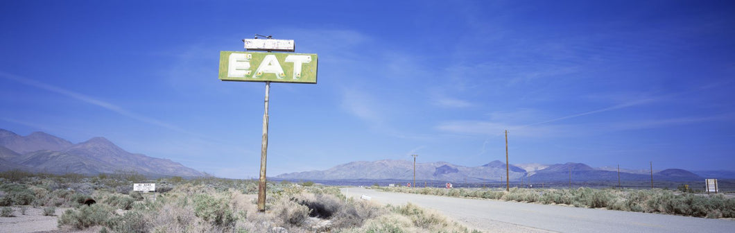 Old Diner Sign, Highway 395, California, USA