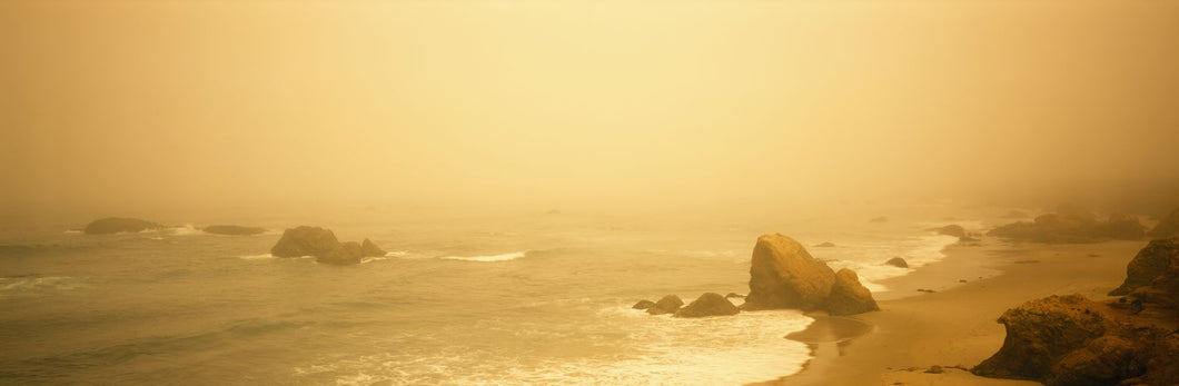 Fog over the beach, Mendocino, California, USA