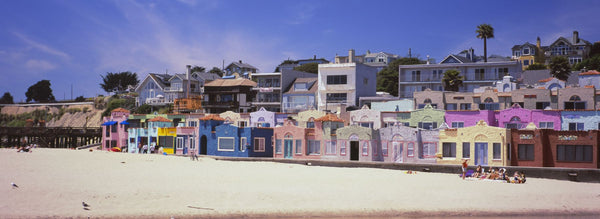 Houses On The Beach, Capitola, Santa Cruz, California, USA
