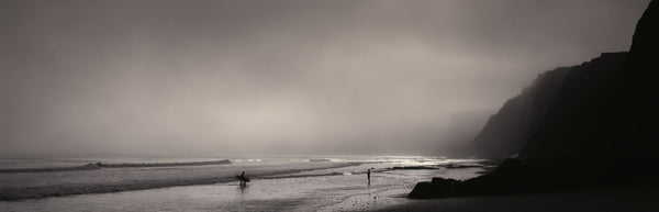 Surfers on the beach, Point Reyes National Seashore, Marin County, California, USA