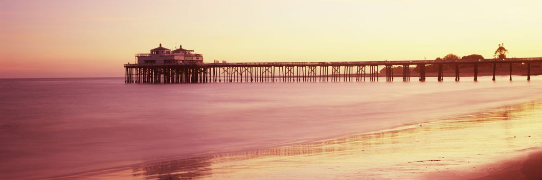 Pier at sunrise, Malibu Pier, Malibu, Los Angeles County, California, USA