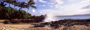 Rock formations at the coast, Maui Coast, Makena, Maui, Hawaii, USA