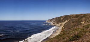 Surf at the coast, Tomales Point, Point Reyes National Seashore, Marin County, California, USA