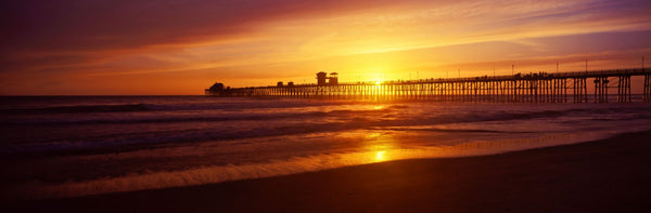Sunset at Oceanside Pier, Oceanside, California, USA