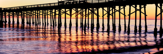 Ventura Pier at sunset, Ventura, California, USA