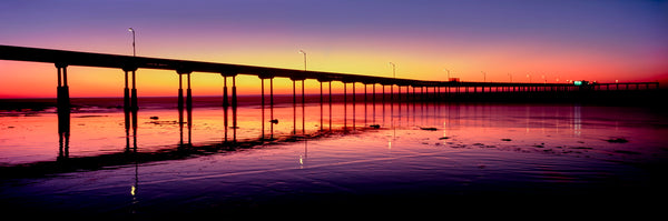 Ocean Beach Pier at sunset, San Diego, California, USA