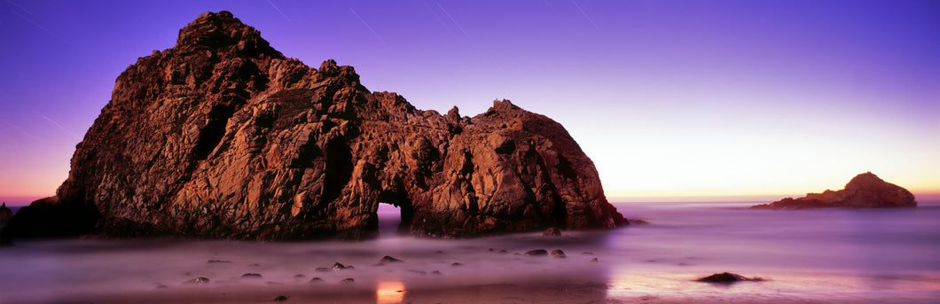 Rock formations on the beach, Pfeiffer Beach, Big Sur, California, USA