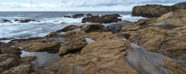 Rock formations on the coast, Point Lobos State Reserve, Monterey County, California, USA