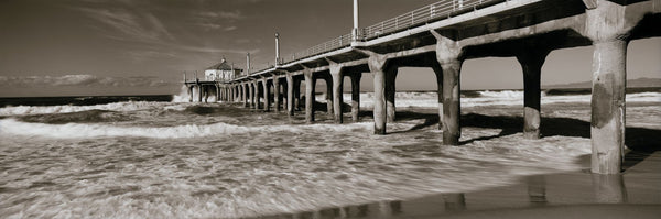 Low angle view of a pier, Manhattan Beach Pier, Manhattan Beach, Los Angeles County, California, USA