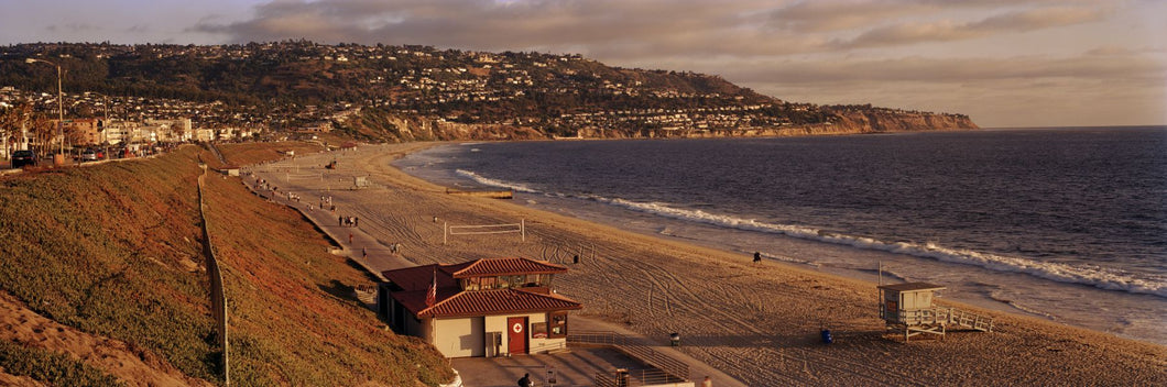 High angle view of a coastline, Redondo Beach, Los Angeles County, California, USA