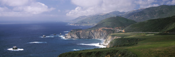 Rock formations on the beach, Bixby Bridge, Pacific Coast Highway, Big Sur, California, USA