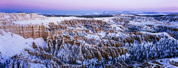 Canyon covered with snow, Bryce Point, Bryce Canyon National Park, Utah, USA