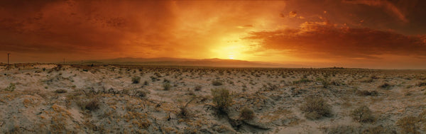 Sunset over a desert, Palm Springs, California, USA